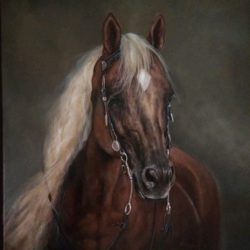 Horo Horses_ Dun Ok Dun_olajfestmény